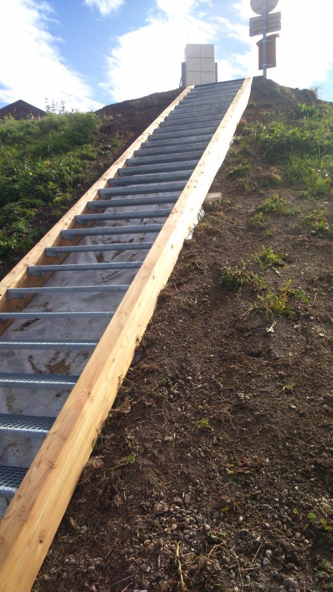 Création d'escaliers et sentiers, Vallandry