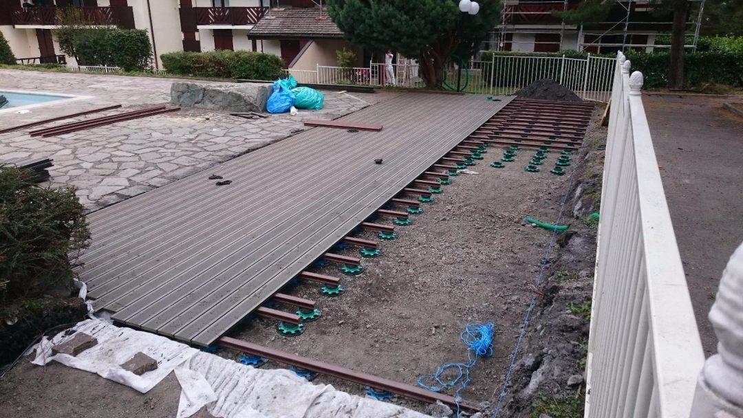 Création terrasse en composite, Bourg saint Maurice