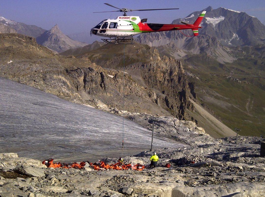Evacuation des gravats par BLUGEON Hélicoptères