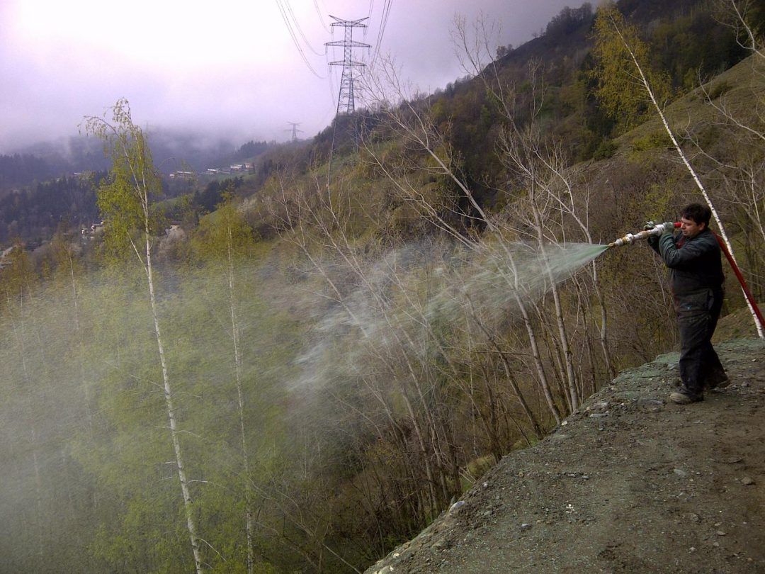 Hydroseeding avec rallonge de tuyau, Bourg saint Maurice