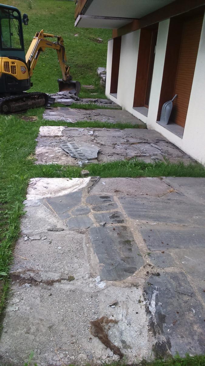Réfection terrasses, La Rosière