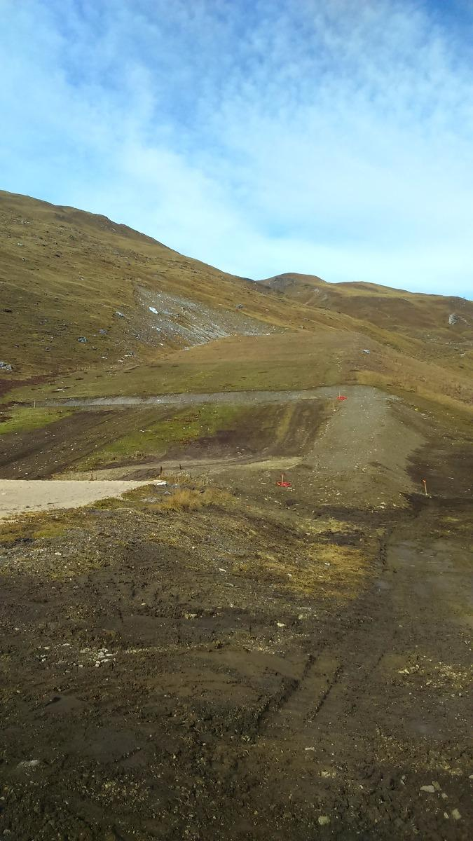 Terrassement pour création piste de Snowtubbing, Tignes