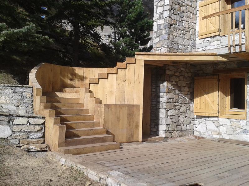 Escalier en traverses paysagères, Val d'Isère