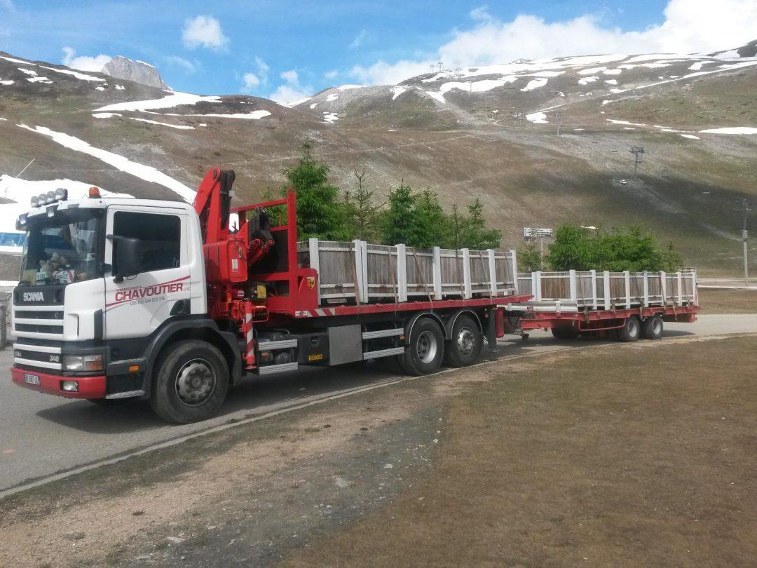 Transport des jardinières avec TRANSPORTS CHAVOUTIER LOIC