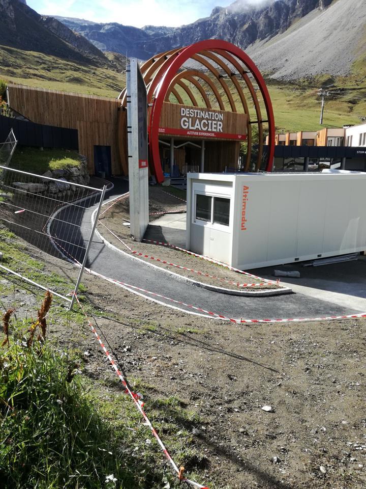 Création d'un accès PMR au départ du funiculaire, à Tignes